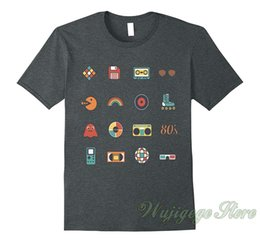 Discount black disk - Summer funny print I Love 80 is With Boombox Cassette and Floppy Disk Tee Shirt t shirt men women tops tee 100% cotton t