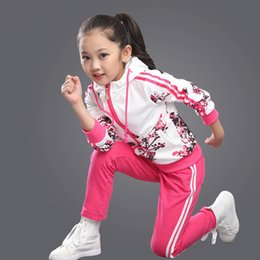 $enCountryForm.capitalKeyWord Australia - Kids Clothes Autumn and Autumn 2018 Girls Sets New Child Foral Print Sport Suits Girls Children Clothing Set 4 Colors Age 3-15Y