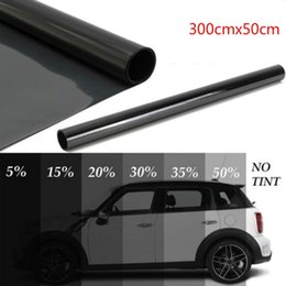 black glasses sticker Australia - 300cmx50cm Black Car Window Foils Tint Tinting Film Roll Car Auto Home Window Glass Summer Solar Uv Protector Sticker Films