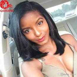 $enCountryForm.capitalKeyWord NZ - African American Human Hair Wigs Bob Style Malaysian Hair Glueless Bob Lace Wig For Black Women Pre Plucked Side Part