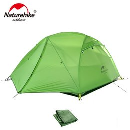 man tents 2019 - NatureHike Outdoor 2 Person Camping Tent 4 season 2 Man Ultralight Portable Best Backpacking Cycling Hiking Tents cheap