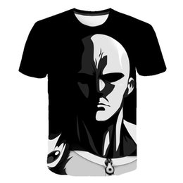 Discount men s vintage t shirts - OK One Punch Man T Shirt Clothing Black Cool Tshirt Mens Tops Summer Tees Vintage Anime T-shirt 3D Funny Short Sleeve