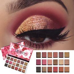 rose eye shadow 2019 - 18 Colors Natural Rose Eye Shadow Palette Long Lasting Waterproof Matte Shimmer Eyeshadow Powder cheap rose eye shadow
