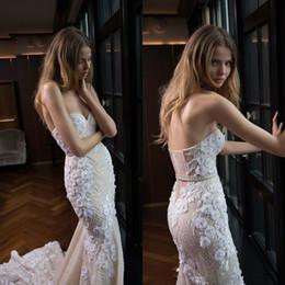 $enCountryForm.capitalKeyWord Australia - Berta 2020 Mermaid Wedding Dresses Bead Sweetheart 3D Floral Appliqued Bridal Gowns Boning Beach Country Style Wedding Dress robes de mariée