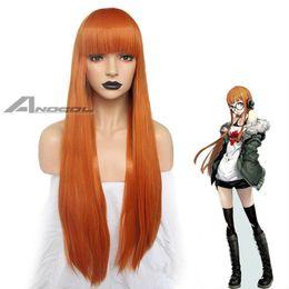 $enCountryForm.capitalKeyWord Australia - Details about Anime Persona 5 Futaba Sakura Long Straight Hair Orange Synthetic Party Full Wig