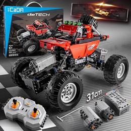 $enCountryForm.capitalKeyWord Australia - 489 Pcs Technic Series Rc Car Model Sports Car Suv Diy Building Block Car Brick Toys For Children Compatible J190722