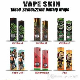 $enCountryForm.capitalKeyWord Australia - 21700 20700 battery wrap skin 2019 newest design zombie series battery skin sleeve heat shrink pvc film