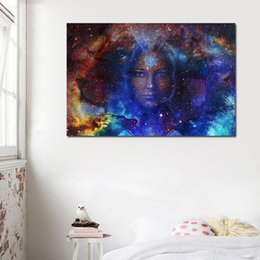 Art Canvas Prints Australia - 1 Piece Star Girl Pictures Wall Art Canvas Painting Poster Prints HD Print Art Pictures For Living Room Cuadros Decoration No Frame