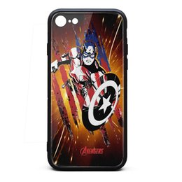 $enCountryForm.capitalKeyWord Australia - Captain america flag stripe square sticker iphone cases best protective case personalised phone cases hard heavy case fit retro shock-absorp