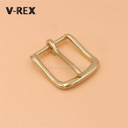 Discount metal belt ends - 1pcs Brass Belt Buckle End Bar Heel Bar Buckle Single Pin Belt Half for Leather Craft Bag Strap Jeans Webbing Dog Collar