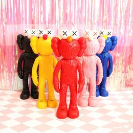 Großhandel 30 cm Super Kawaii Thailand Bangkok Ausstellung Sesamstraße Kaws Bff Pvc Verfeinerung Puppe Spielzeug Sammlungen Für Kinder Geschenk Y19070103