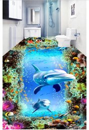 underwater 3d wallpaper Australia - Waterproof floor painting Dream Underwater World 3D Flooring self-adhesion mural Wall Sticker home decor Custom photo wallpaper