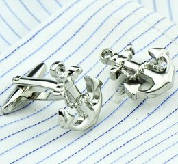 mens gold anchor Australia - 18mm Anchor Silver Gold Cufflinks Mens Cuffs Jewelry Stainless Steel Metal Cuff Nail Unique Free Shipping for Men M1