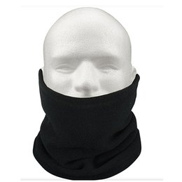 $enCountryForm.capitalKeyWord Australia - Unisex Polar Fleece Neck Warmer Thermal Snood Scarf Hat Ski Wear Snowboarding - Black