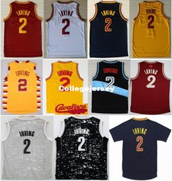 624e433e1 Cheap  2 Kyrie Irving Retro Jersey 2016 Navy Blue White Red Yellow Black  Stitched Basketball Uniform Top Quality Ncaa