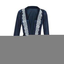 Discount hot lingerie kimono - KLV #ZG4 NEW HOT FASHION 2019 Free Ship 1PC Women Sexy Silk Kimono Lace Lingerie Bathrobe Nightwear Bath Robe Nightgown
