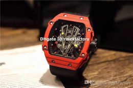$enCountryForm.capitalKeyWord Australia - Top Luxury 27-02 Watch Red Carbon Fibers Case Skeleton Dial Swiss 8215 Automatic Sapphire Crystal Spline Screws Nylon Strap Mens Watch