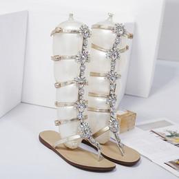 ff800e21bd0f Flat sandals big rhinestones online shopping - hot fashion Cross border  foreign trade Flat bottom Big