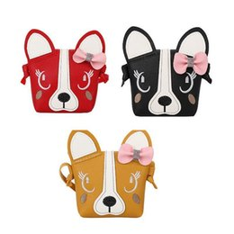 $enCountryForm.capitalKeyWord NZ - Korean Bow Cute Dog Shoulder Bag Princess Crossbody Messenger Handbags Hand Mini Accessories Bags For Girls Single Shoulder Bag