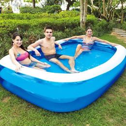 Estate Famiglia gonfiabile gonfiabile per bambini figli adulti Gioca vasca da bagno l'acqua della piscina Famiglia grande PVC Piazza Piscina galleggiante in Offerta