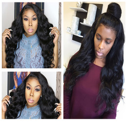 long african hair Australia - Loose Wave Curly Wigs For African Americans,Virgin Brazilian Human Hair Lace Front Wigs Glueless Full Lace Wigs For Black Women