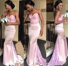 $enCountryForm.capitalKeyWord NZ - 2019 African Nigerian Bridesmaid Dress Pink Mermaid Country Garden Formal Wedding Party Guest Maid of Honor Gown Plus Size Custom Made