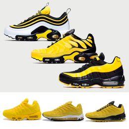 separation shoes 912dd 1106f Deisgner Yellow Black 97 95 TN plut Foot Locker Running Shoes Men Women Air  Frequency 1 Trainers Eur36-46