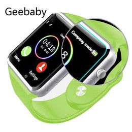 $enCountryForm.capitalKeyWord Australia - A1 Bluetooth Smart Watch Sport Pedometer with SIM Card Smart Watch Phone Camera for Android Smartphone