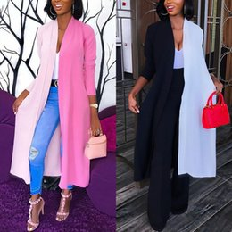 Wholesale three quarter cardigans resale online – Trendy Women clothes Loose three quarters sleeve Geometry shirts Cardigan cotton Summer Shawl Blouse one pieces