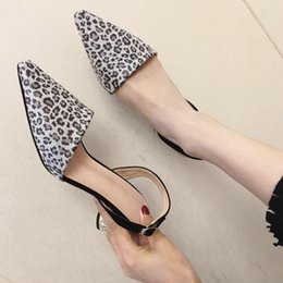 $enCountryForm.capitalKeyWord Australia - Goddess2019 Woman Shoe Single Coarse With Shallow Mouth Leopard Print Back Air Sandals Joker High-heeled Shoes You