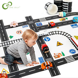 Discount kids toy car keys - Toys Hobbies Diecasts Toy Vehicles Railway Washi Tape Wide Creative Traffic Road Adhesive Masking Tape Road for Kids Toy