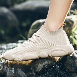 $enCountryForm.capitalKeyWord NZ - Summer breathable high flying woven men's shoes mesh shoes Korean version of anti-odor sports casual shoes versatile mesh upper 2019 fashion