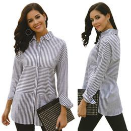 $enCountryForm.capitalKeyWord Australia - 2019 Fashion Striped Printing Blouses & Shirts of Lady,Women's Polo Neck Long Sleeve Shirts,Contrast Colours