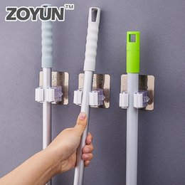 $enCountryForm.capitalKeyWord NZ - Wall Mounted Mop Holder Brush Broom Hanger Storage Rack Bathroom Organizer Accessory Hanging Pipe Hooks Products For