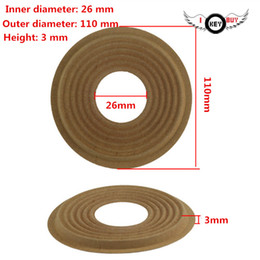 wholesale speaker repair Canada - Free Shipping 110 MM 26 MM Woofer speaker Spider Spring Pad Cloth Speaker Repair Woofer Wave Shrapnel 2 PCS Height 3 car