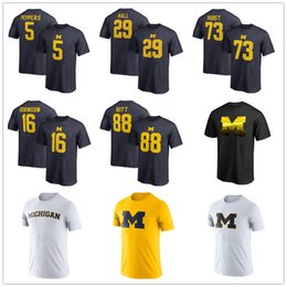 Wholesale college tees for sale – custom 2019 NCAA Michigan Wolverines Men s Basketball Tournament Final Four Bound Charge T Shirt College Fans Tops Tee printed brand logos
