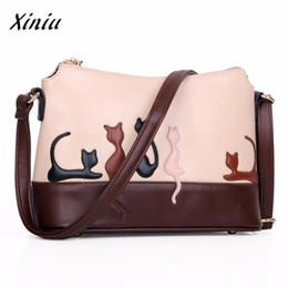 Bag Brands Korea Australia - USPS XINIU vintage Women Cat Rabbit Leather Appliques Shoulder Bag Cross Body Handbag women messenger bags designer brand Korea