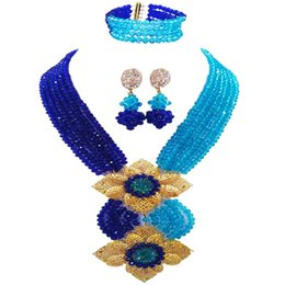 $enCountryForm.capitalKeyWord NZ - Wonderful Royal Blue Lake Blue Women Crystal Jewelry Sets Anniversary Necklace Gift 6C-HL-32