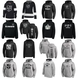 Hot Sale Custom Mens Womens Kids Los Angeles Kings Cheap Best Quality  Embroidery Logos Black Grey Ice Hockey Hoodies with Any Name Any No. 664ea7eb2