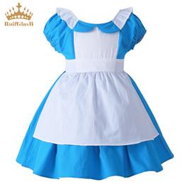 42f08ec1794a RuiFglasb meninas vestido de verão Alice princess fille Costume de Algodão  Doce Roupas de Empregada do bebê menina frocks infantis
