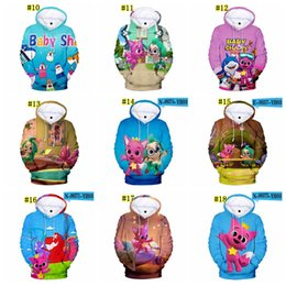 BaBy 3d online shopping - kids D Baby Shark Hoodies Baby Shark Pullover Hoodies Sweatshirt kids Unisex Hoodies colors MMA1549