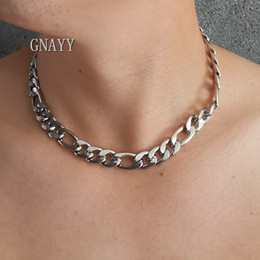mens titanium chain link necklace NZ - XMAS Gifts for Mens boys huge heavy 12mm 24 inch silver stainless steel Figaro necklace NK Chain Link necklace for mens