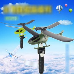 Wholesale Toys Helicopter Australia - 2019 Handle Pull The Plane Aviation Funny Cute High quality Outdoor Toys For Children Baby Play Gift Model Aircraft Helicopter C12