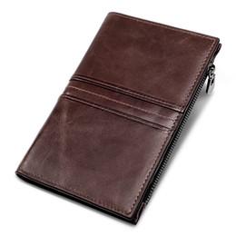 Stitch Wallet Australia - Classic retro stitching hand bag leather men's wallet long multi-card bag travel passport portable light clutch