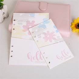 Pages Stationery Australia - 2pcs Cute Notebook Refills Stationery 6 Holes A5 A6 Refilling Inner Pages Loose Leaf Pockets Planner Organizer Pouch Pink
