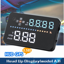 Car Heads Up Display Australia - 3.5inch HUD Car Head Up Display GPS Speedometer Winshield Projector Digital car speedometer OBD2 Vehicle Speed Warning System