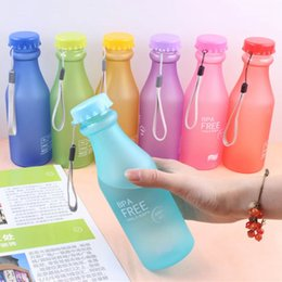 unbreakable plastic Australia - Unbreakable Frosted Leak-proof Plastic Kettle 550mL BPA Free Portable Water Bottle For Travel Yoga Running Camping Candy Colors