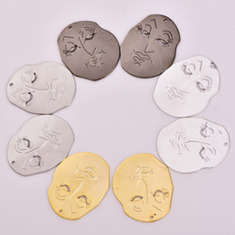 $enCountryForm.capitalKeyWord Australia - 5pcs lot zhu ru 30*24.5mm Charms Personality abstract face red mask Pendants for Jewelry Making DIY Accessories Handmade Crafts