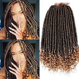 $enCountryForm.capitalKeyWord Australia - Crochet Faux Locs Straight Curly Ends 16 Inch Short Goddess Locs Crochet Hair Goddess Faux Loxs Crochet Braids(16Inch #T-27)