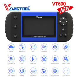 srs diagnostic tool Australia - VT600 Key Programmer OBD2 Automotive Scanner Diagnostic Tool Engine ABS SRS EPB Oil Service Reset Injector Coding